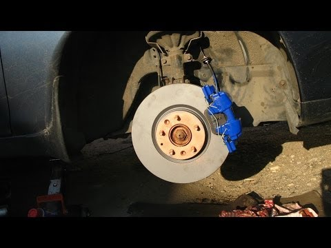 TIMELAPSE: Mazda6 MPS front brakes install on Xedos 6