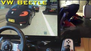 getlinkyoutube.com-Volkswagen New Beetle - City Car Driving onboard simulator gameplay, 1080p. Logitech G27, pedals.