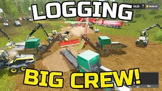 FARMING SIMULATOR 2017 | MULTIPLAYER LOGGING | BIG CREW | PACIFIC INLET MAP