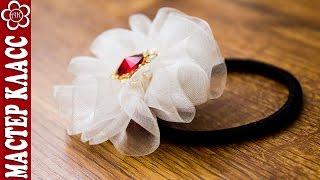 getlinkyoutube.com-Цветок из Ленты за 5 минут своими руками ✄ Kulikova Anastasia