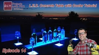 How to Make an LED Concrete Table with a Built-in Cooler