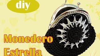 getlinkyoutube.com-Monedero con fichas de aluminio a crochet: Monedero Estrella