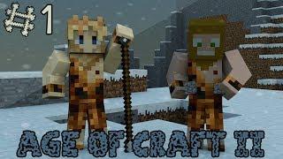 getlinkyoutube.com-Minecraft - Age Of Craft II ; Episode 1 - La Préhistoire ! [ Aventure Modée Évolutive ]