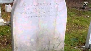 Imam Hashmi Visited the Grave of Abdullah Yusuf Ali ,Brookwood graveyard woking surrey