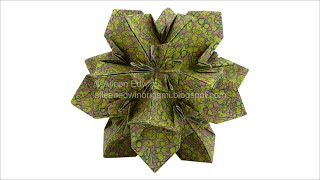 getlinkyoutube.com-Origami Kusudama (Aileen Edwin) Video Tutorial *HD*
