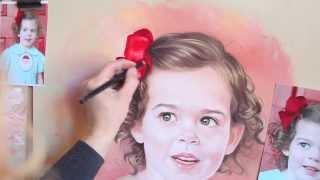 getlinkyoutube.com-Pastel portrait, Drawing a pastel portrait