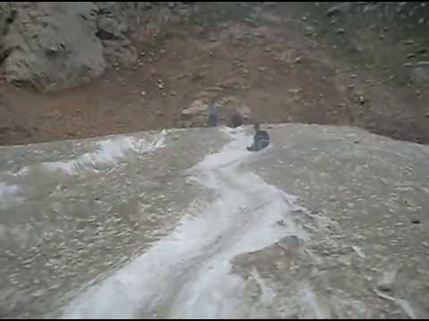 Boys Slide on Lake Saifulmalook , Kaghan
