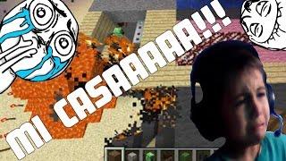 getlinkyoutube.com-A niño se le quema la casa en Minecraft