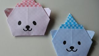 "getlinkyoutube.com-折り紙 X'mas ver. くまサンタの折り方   How to Origami ""Bear Santa"""