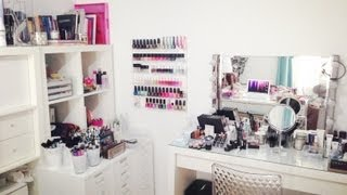 getlinkyoutube.com-Mon rangement et ma collection de maquillage - Makeup Storage/Collection