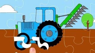 getlinkyoutube.com-Cartoni animati. -Il puzzle.- La gru, la scavatrice, il trattore.