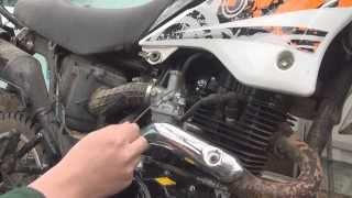 getlinkyoutube.com-Настройка карбюратора на мотоцикле Рйсер Пантера (Racer Panther)