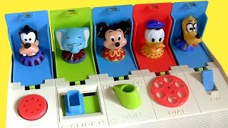 getlinkyoutube.com-Disney Baby Pop-up Pals Surprise Mickey Minnie Goofy Donald Daisy Pluto Dumbo Poppin' Toy