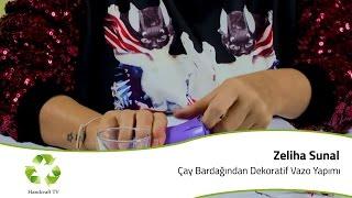 getlinkyoutube.com-Çay Bardağından Dekoratif Vazo Yapımı