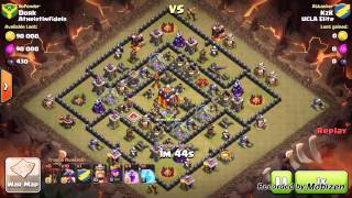 getlinkyoutube.com-Clash of Clans: Mass Dragon Attack Strategy Th10 v TH10
