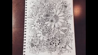 zentangle inspired flowers - doodles by kc
