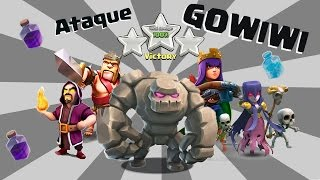 getlinkyoutube.com-ESTRATÉGIA de ATAQUE GOWIWI | COMO FAZER?!?! | 100% destruição no Clash of Clans !