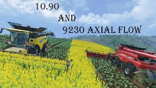 getlinkyoutube.com-Farming Simulator 2015 - HArvesting With New Holland CR 10.90 + Axial Flow 9230
