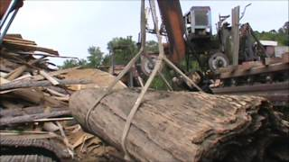 getlinkyoutube.com-Sawing Deadhead Cypress Triple Table Tops At Cross Sawmill