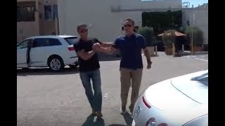 getlinkyoutube.com-Arnold Schwarzenegger shows off his million dollar car to Sylvester Stallone - Subscribe