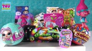 LOL Surprise Disney Tsum Tsum Trolls MLP Shopkins Easter Blind Bag Opening | PSToyReviews