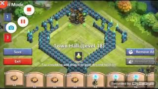 getlinkyoutube.com-Castle clash th 18 base  ice breaker