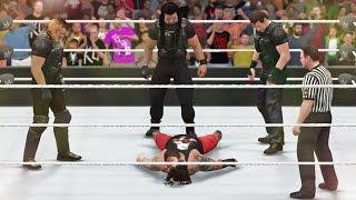 getlinkyoutube.com-WWE 2K16 - THEY KILLED HIM!!! The Shield vs The Wyatt Family - Elimination Tag Team Match