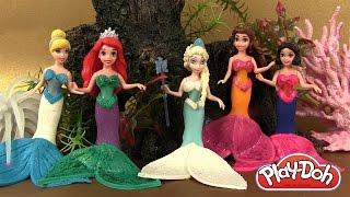 getlinkyoutube.com-Play Doh Pâte à modeler Princesses Magiclip en Sirènes Mermaid Disney Princess