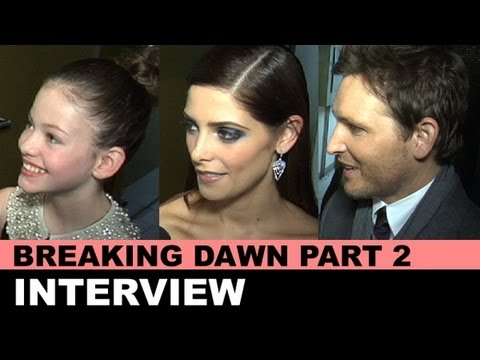 Twilight Breaking Dawn Part 2 NY Premiere - Mackenzie Foy, Ashley Greene, Peter Facinelli Interview