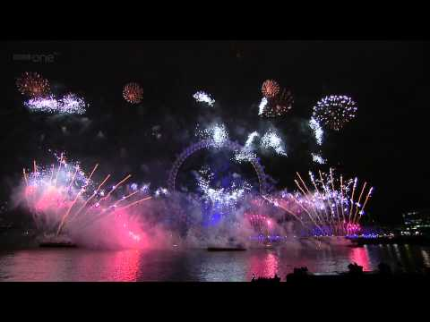 London 2012 New Year Fireworks! [HD] [1080p]