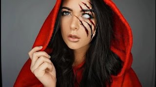 getlinkyoutube.com-Red Riding Hood Halloween Makeup Tutorial