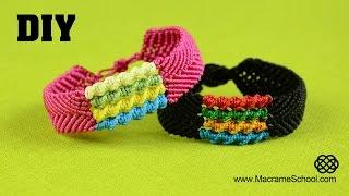 getlinkyoutube.com-DIY Chevron Bracelet with Spiral Stripes - Macramé Tutorial