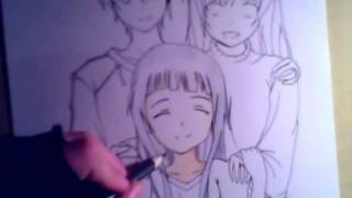 getlinkyoutube.com-Drawing Kirito, Asuna and Yui  from Sword Art Online