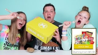 Esian Box Unboxing TRYING NEW FOODS!