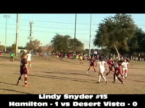 Lindy Snyder 2011 Tempe Diablo 1st Game Hamilton vs Desert Mountain 1st Goal, 2nd Assist