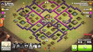 Clash of Clans | TH8 attacchi in war | Accademia