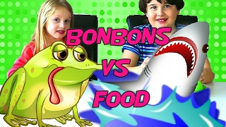 getlinkyoutube.com-GUMMY FOOD vs REAL FOOD Challenge - Vraie Nourriture VS Bonbons