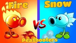 getlinkyoutube.com-Plants vs Zombies 2 Snow vs Fire Peashooter