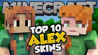 getlinkyoutube.com-Top 10 Minecraft ALEX SKINS! - Best Minecraft Skins