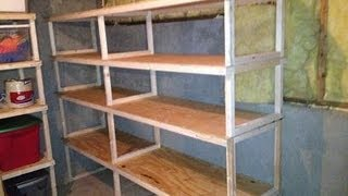 getlinkyoutube.com-Quick, easy, cheap storage shelves