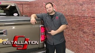 getlinkyoutube.com-Chevrolet Silverado/GMC Sierra Tail Light and Turn Signal Bulb LED Red Pair 1999-2013 Installation