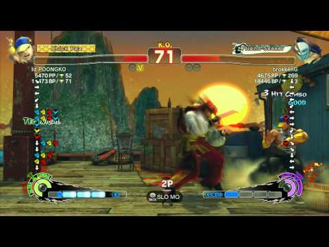 SSF4 AE 2012: Poongko (Yun) vs brokkenG (Claw) - Xbox Live Ranked Match