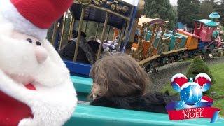 getlinkyoutube.com-VLOG • Le train du Père Noël ? - Studio Bubble Tea Disneyland Paris amusement park