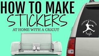 getlinkyoutube.com-DIY - How I Make My Stickers From Start to Finish Cricut Explore One