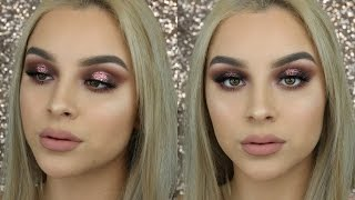 Sultry Brown & Pink Glitter Halo Eye | Aidette Cancino