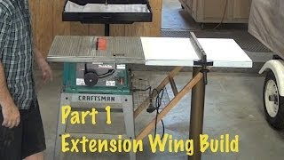 "getlinkyoutube.com-Extend Rip Capacity from 12"" to 40"" * Extension Wing Build  1 OF 2 *diy step by step Table saw"
