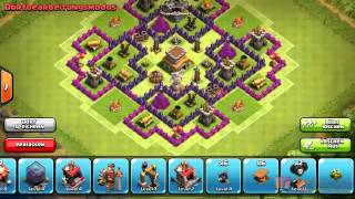 getlinkyoutube.com-Villaggio municipio livello 8 clan war- trofei