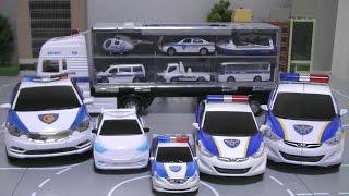 getlinkyoutube.com-헬로카봇 또봇C 경찰차 장난감 캐리어카 Tobot Hello Carbot Police Cars Toys