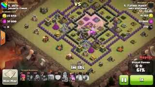 getlinkyoutube.com-Clash of Clans - 3 star attack GOWIPE Strategy at TH 9