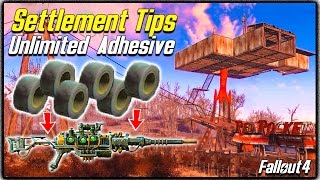 getlinkyoutube.com-Fallout 4 Settlement Tips #1 - UNLIMITED ADHESIVE FARM! Quick & Easy Method to Modify Weapons!